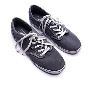 Vans Atwood Gray Low Top Lace Up Sneakers Size 6.5